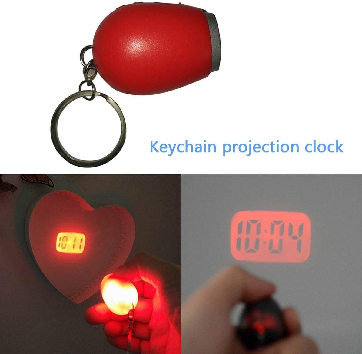 Mini orologio a proiezione digitale Orologio a led portatile Orologio da parete a soffitto Orologio da proiezione Orologio elettronico con luce notturna magica Mini orologio a proiezione rosso