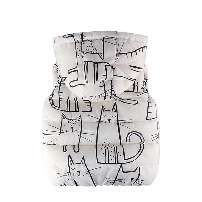 Vestido Bebe Niña,Vestidos Bebe Niña Invierno,Niño Pequeño Niños Niñas Niños Sin Mangas Gato De Dibujos Animados Con Capucha Cálido Tops: Amazon.es: Bebé