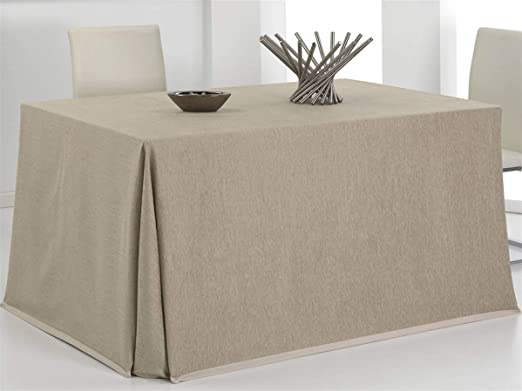 CAÑETE - Falda Camilla Rectangular CUSMO 70x110 cm - Color Marrón ...