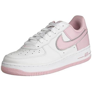 f8e48106da5b Nike Womens Air Force 1 Low (white   perfect pink   metallic silver)-