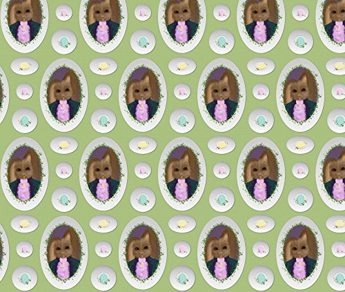 Peter Cottontail's Egg Plates ~ Small by peacoquettedesigns - Custom Fabric with Spoonflower - Printed on Kona Cotton Fabric by the ()