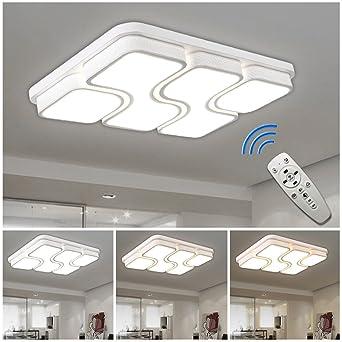 HGR 64W LED Deckenlampe Deckenleuchte Design Dimmbar Wohnzimmer Beleuchtung Wandleuchte Mit FB