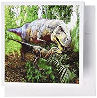 3dRose Dinosaurs - Greeting Cards, 6 x 6 inches, set of 12 (gc_4096_2)