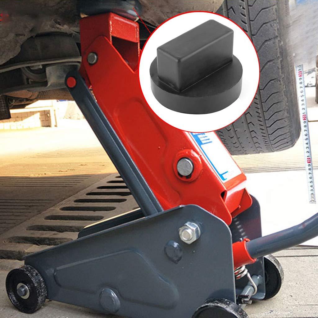 Adaptateur de rail pour bloc de voiture standard 4 types de support Support en caoutchouc renforc/é Protection d/'entretien de voiture FlowerPEI Outil de r/éparation