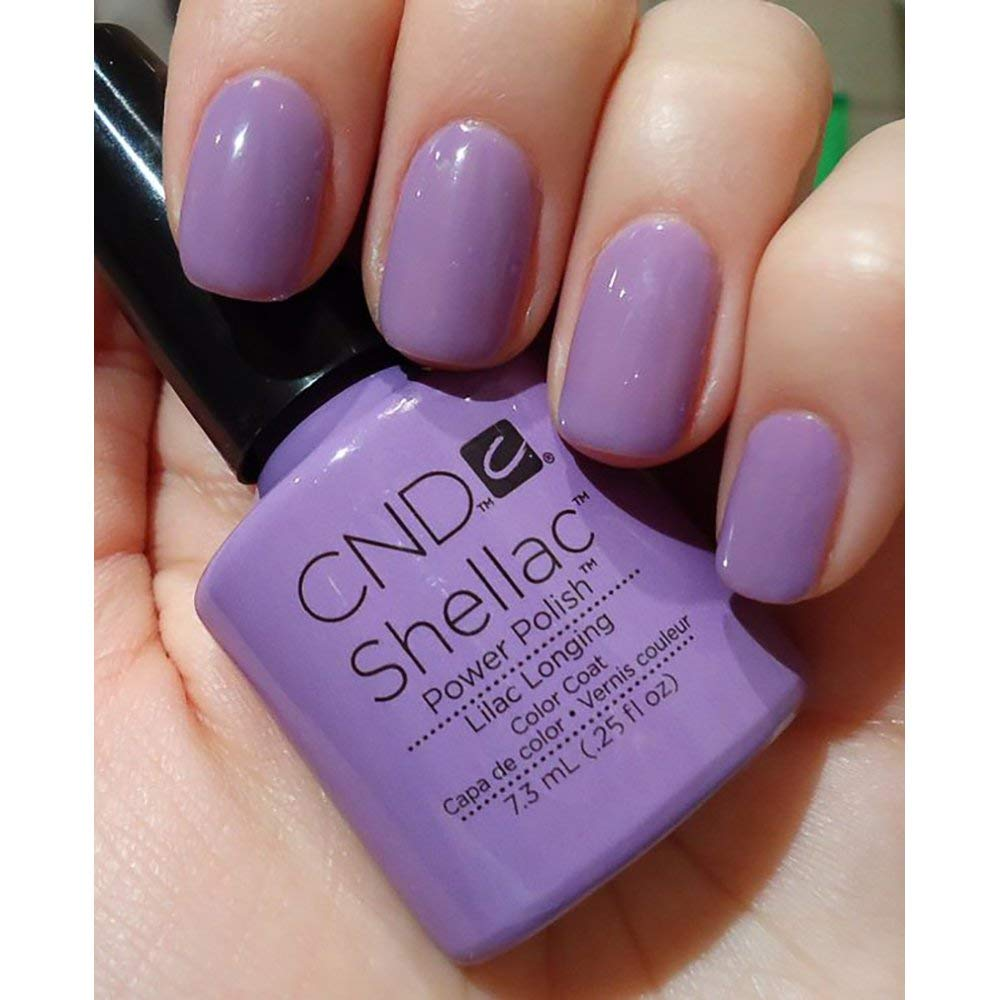 Cnd Shellac Lilac Longing Uv Gel Coat New Sweet Dreams Spring 2013 Collection
