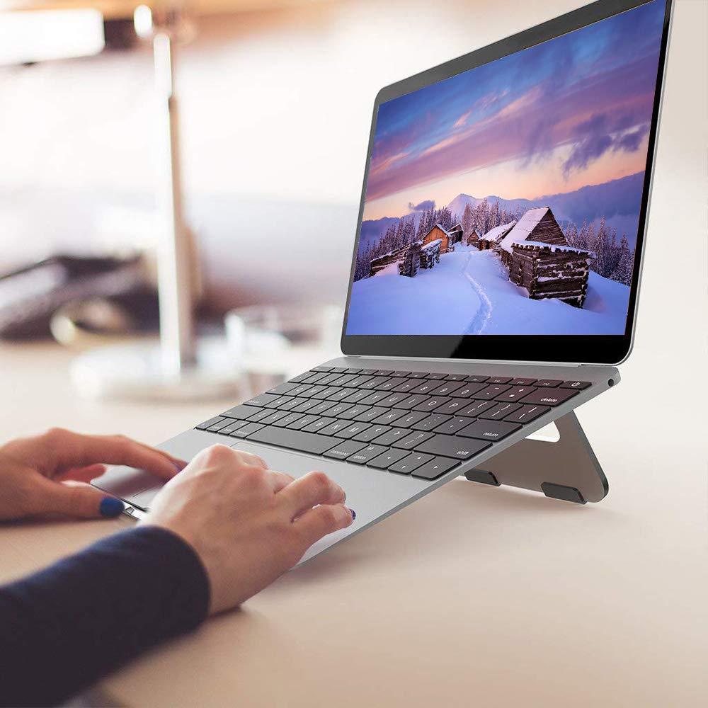 FAPPEN Laptop Stand Silver Portable Lightweight Aluminum Laptop ...