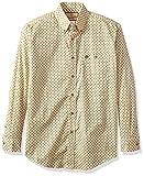 Wrangler Men's Western Classic One Pocket Shirt, Khaki/Brown, L