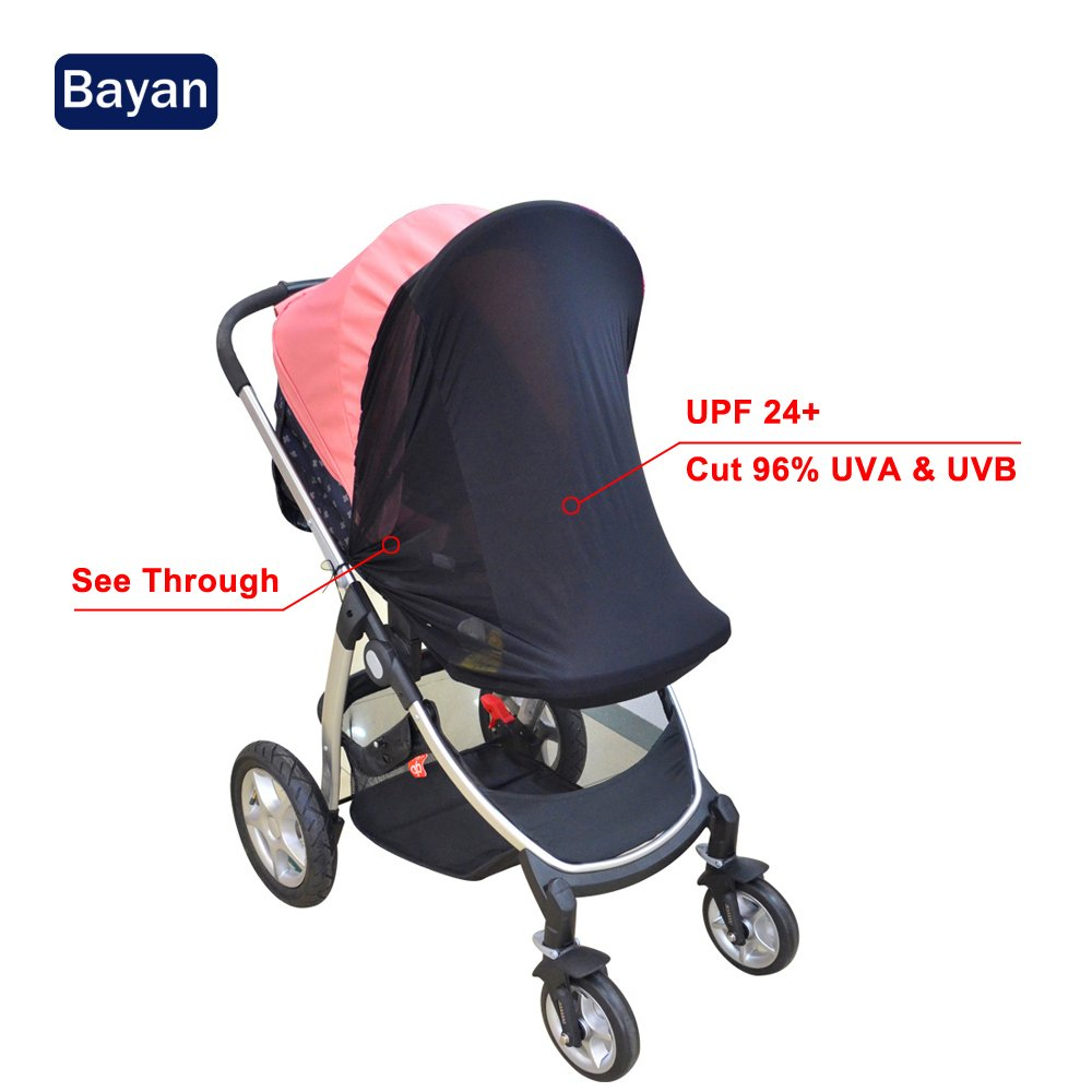 Bayan Stroller Sunshade Baby Car Seat Sun Shade Cover-Effective UV Rays Cut Design-Blocks 95.76% UVA and 95.87% UVB by Bayan