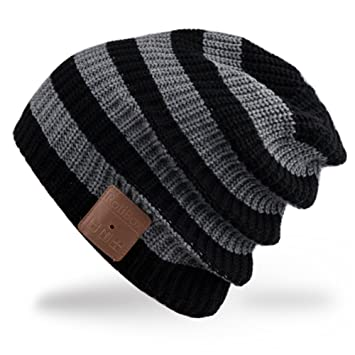 Rotibox Bluetooth Beanie sombrero Música Cap con inalámbricos Auriculares Eliminación de altavoces Mic manos libres Regalos