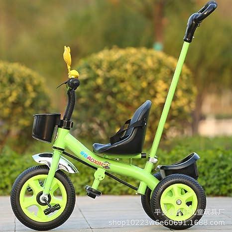 WY-Tong Bicicleta Infantil Triciclo para niños, Bicicleta de Tres ...