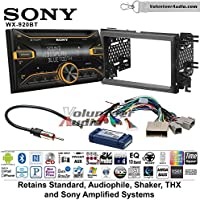 Volunteer Audio Sony WX-920BT Double Din Radio Install Kit with Bluetooth, Pandora, and SiriusXM Ready For 2007-2010 Edge (With factory amplified sound)