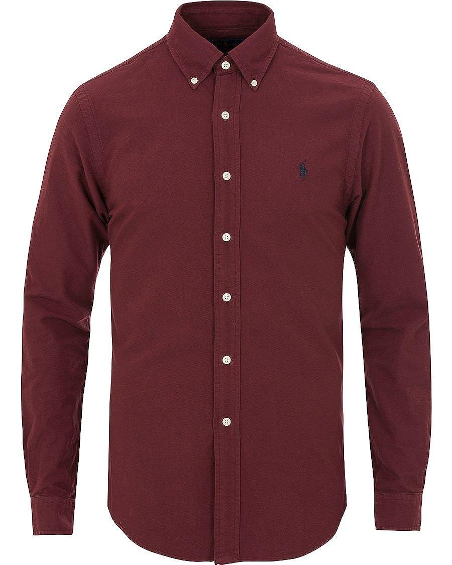 Polo Ralph Lauren, camicia cotone tinta unita slim fit, colore ...