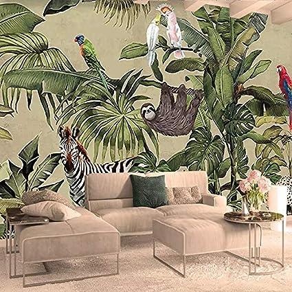 Wallpapers Custom 3d Photo Wallpaper Vintage Tropical Rain Forest
