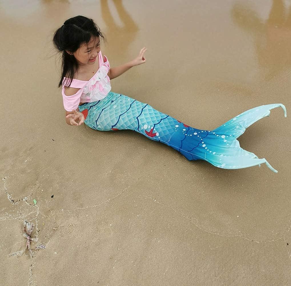 XonyiCos Kids Boys Girls Adult Women Swimmable Mermaid Tail Monofin Swimwear