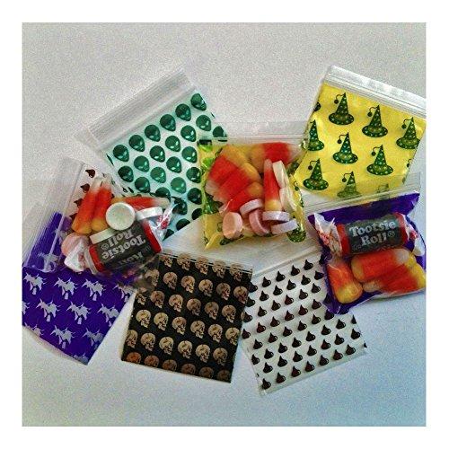 2020 Apple Trick or Treat Mix 100 Ziplock Bags Poly Plastic Halloween Designs US Best (Best Halloween Plastic Containers)
