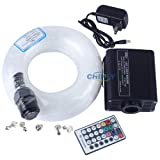 CHINLY 16W RGBW Remote LED Fiber Optic Star Ceiling
