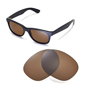 d46bb27d7ba Walleva Replacement Lenses for Ray-Ban Wayfarer 2132 55mm-Multiple Options ( Brown - Polarized)  Amazon.ca  Sports   Outdoors