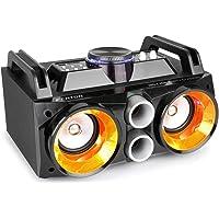 Fenton MDJ100 Draadloze Bluetooth Party Speaker 100 Watt, met Ingebouwde Accu, Microfoon, Verlichte Luidsprekers, LCD…