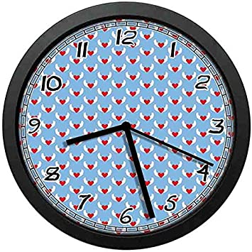 Amazon.com: BCWAYGOD Angel Wings Art Wall Clock,Eros Love ...