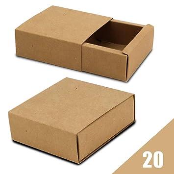 RUBY - 20 Cajas cartón kraft tipo de cerillas para regalos ...