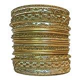 Set of Dark Gold Tone Bangle Bracelets for Women