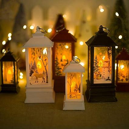 Prettyui Christmas Table Lamps Xmas Creative Candle Holder Desk