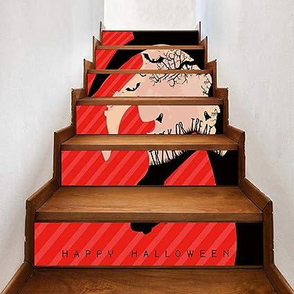 6 Piezas Creativo Escalera Pegatina Diy Bruja Murciélago Decoración De Vacaciones Hogar Pasillo Escaleras 3D Pegatinas De Pared: Amazon.es: Bricolaje y herramientas