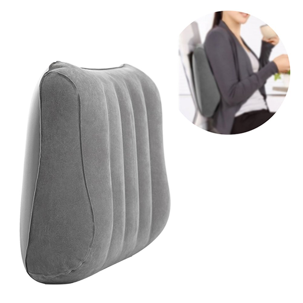 Bloomma Lumbar Cushion, PVC Flocking Inflatable Back Cushion for Car,Office Chair,Home,Travel,Camping