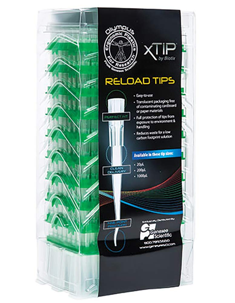 Low Binding Sterile 50 Racks of 96 Pipette Tips//Unit Olympus 250/µl Ergonomic X Pipet Tip for Rainin LTS Racked