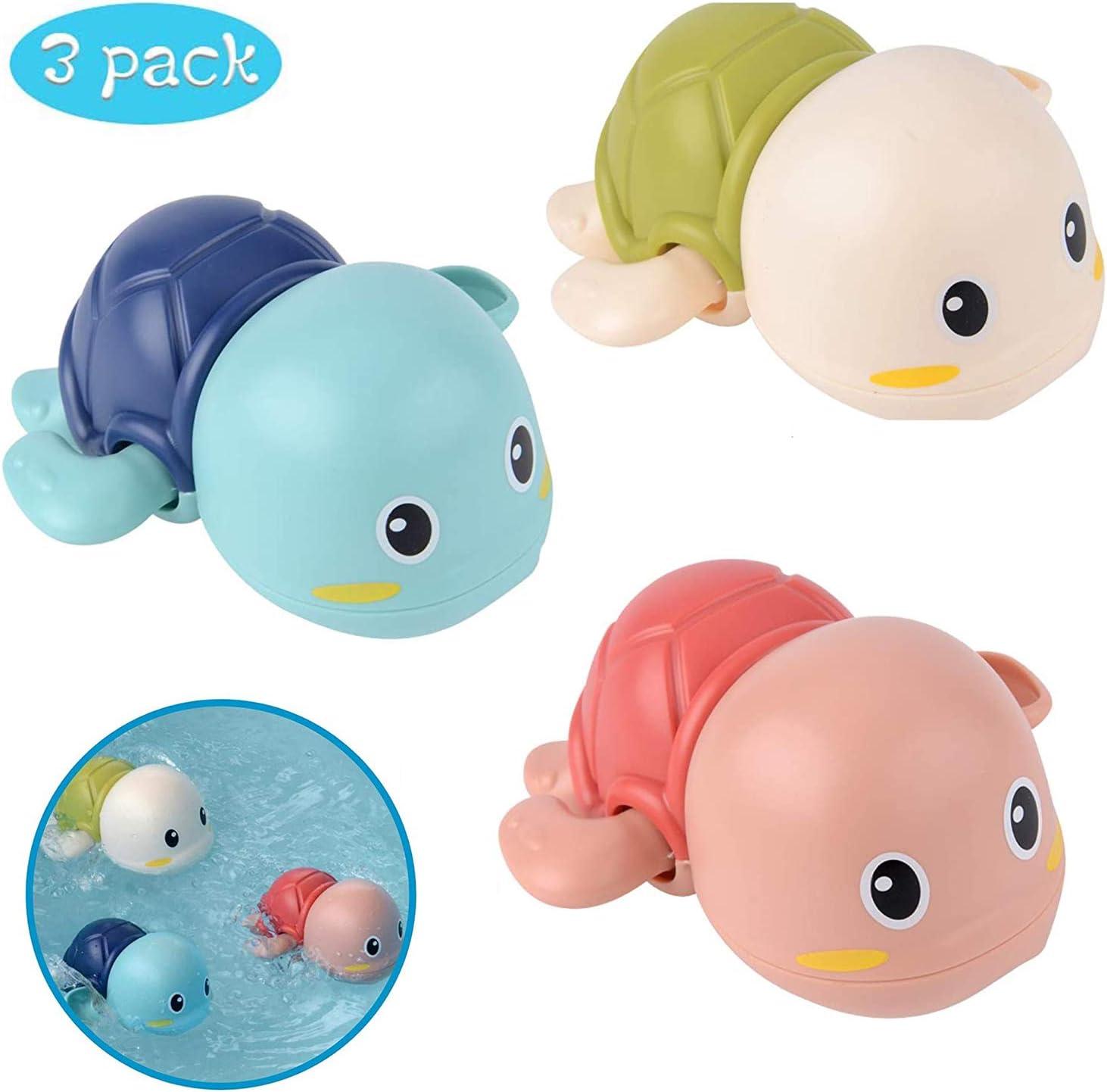 Toddlers Boys Girls 3 Pezzi WENTS Baby Bathing Bath Vasca da Bagno Pool Toy Baby Bathing Clockwork Turtle Anatra Bath Toys for Bambini