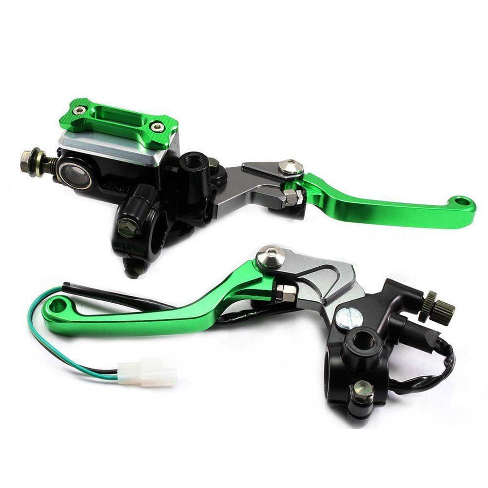 Universal Adjustable Brake Master Cylinder Clutch Perch Levers Master Cylinder Reservoir Kit For YAMAHA WR250R//X 2007-2013 Silver