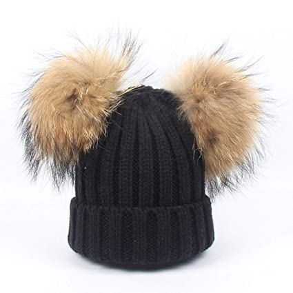 ECYC Berretto Beanie Con Pompon Cappello Elastico Invernale