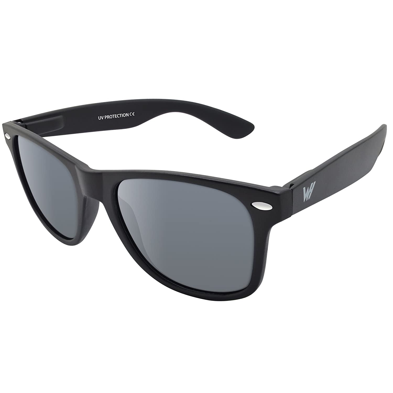 WHCREAT Unisex Polarisierte Sonnenbrille Federscharnier Matt Rahmen ...