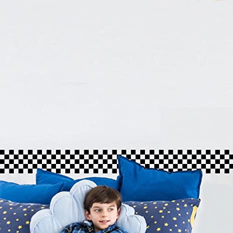 rollo de bordes de pared extra/íbles Frolahouse Cenefa de papel pintado para cocina ba/ño estilo europeo y americano Mosaico 10 x 200 cm