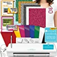Silhouette Cameo 3 Machine Bundle Handbook Siser Glitter Heat Transfer Vinyl with Designs, Oracal Adhesive Backed Vinyl with Designs, Tools