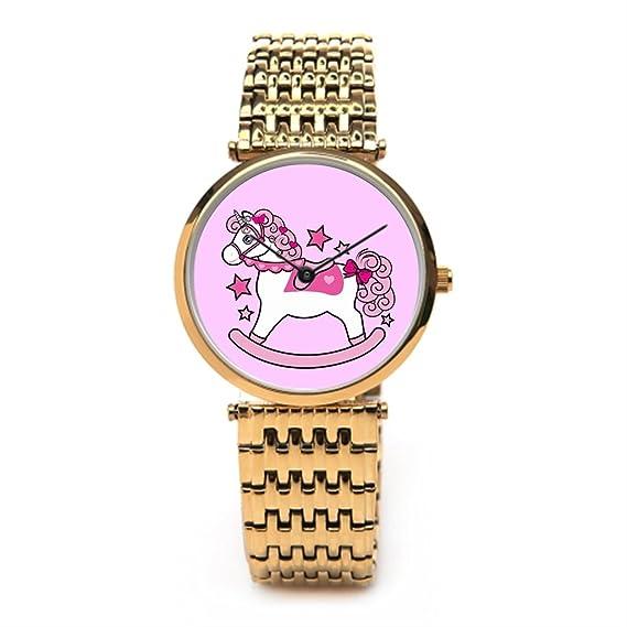 tinax acero inoxidable reloj banda unicornio mejores relojes de acero inoxidable rosa: Amazon.es: Relojes