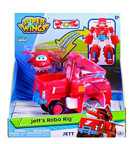 Super Wings - Robo Rig | Toy Vehicle Set |, Includes Transform-a-Bot Jett Figure | 2'' Scale by Super Wings - (Image #4)