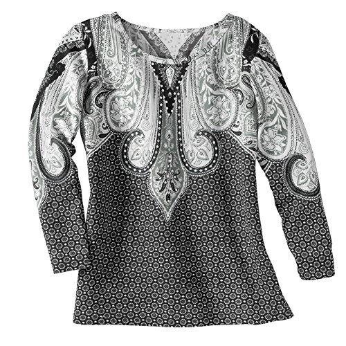 Collections Womens Paisley Sequin Scoop product image