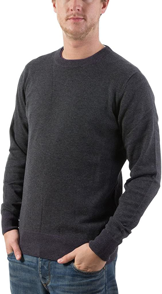 F//X Fusion Mens Pullover Solid V-Neck Cotton Blend Sweater Colors