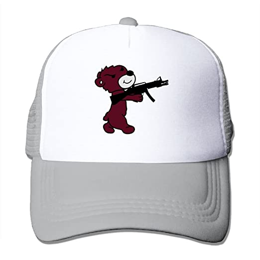 Amazon.com  Oiir Ooiip Shooting Bear Unisex Adjustable Mesh Baseball ... 1569b7e7836d