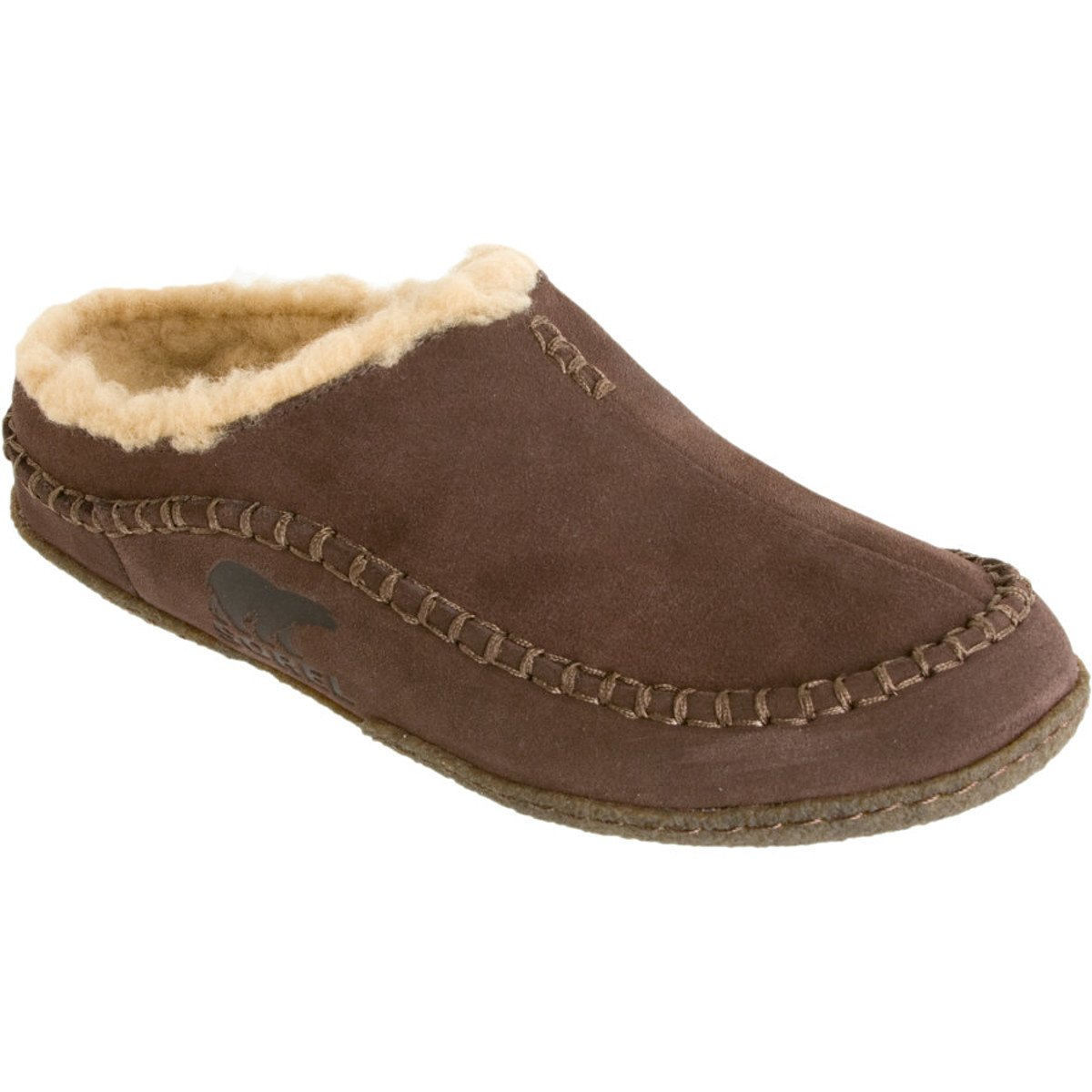 SOREL Men's Falcon Ridge Slipper,Bark,10 D - Medium
