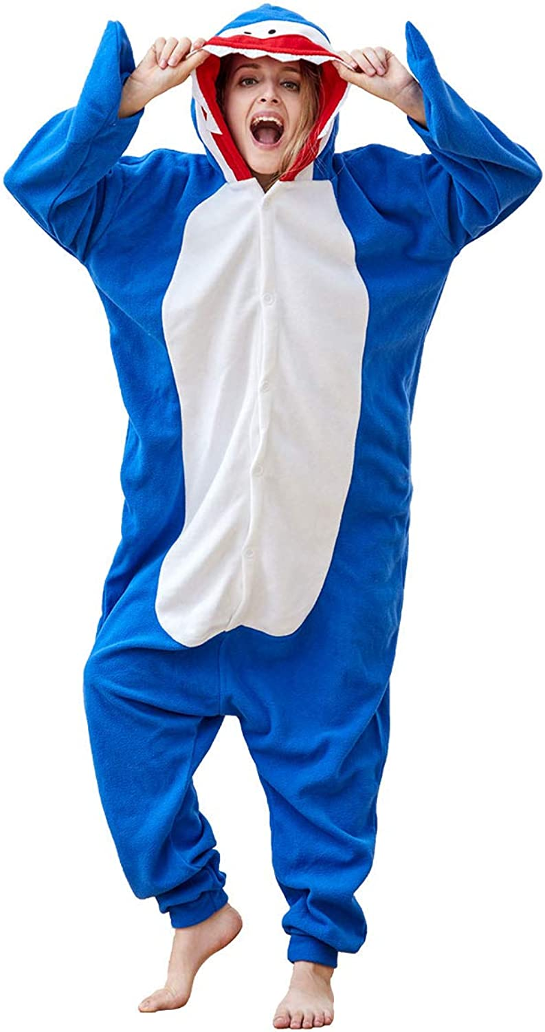 Adult Animal Onesie Pajamas One-Piece Plush Animal Cosplay Costume