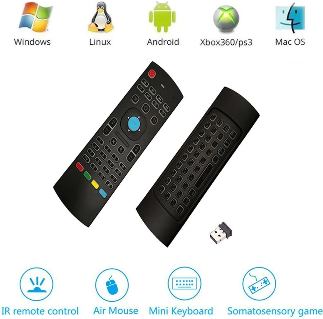 2.4 G Wireless Mini teclado QWERTY, vasteyu MX3 Android caja mando a distancia con aire ratón Android mando a distancia 3-Gyro + 3-Gsensor para Google Smart TV Caja HTPC PC Windows iOS