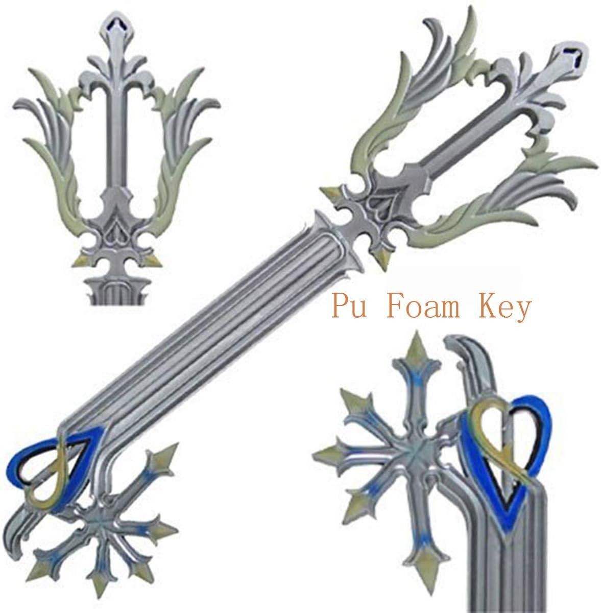 KXR Kingdom Hearts Mickey Keyblade Safe Soft PU 34.6 Length Material Kingdom Hearts Sora Keyblade Katana Ep/ée Sabre Repliksword