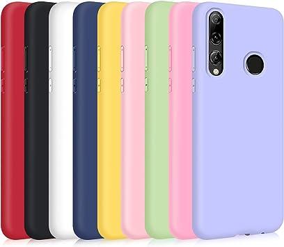 9X Coque pour Huawei P Smart 2019/Honor 10 Lite, Étui Couleur Unie Silicone Ultra Mince Lumière Flexible Souple TPU Housse-Noir,Bleu ...