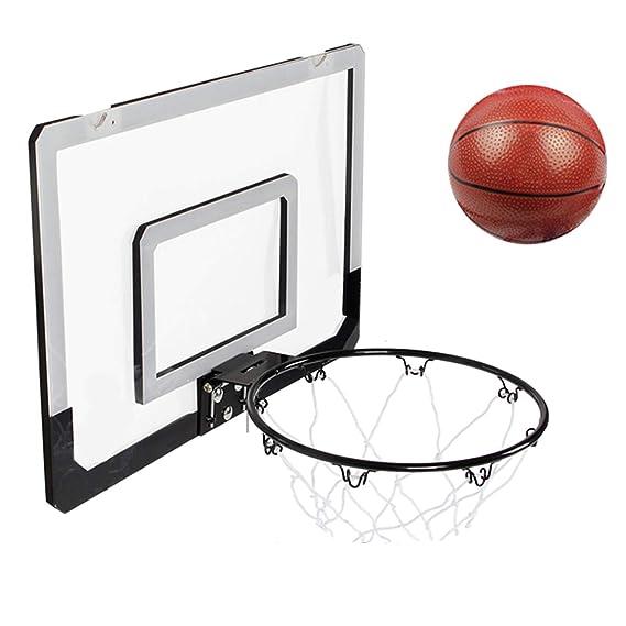 Juego de juguetes de baloncesto, tablero de baloncesto colgante para niños, tabla de mini baloncesto, interior exterior Oficina en casa Soporte de ...