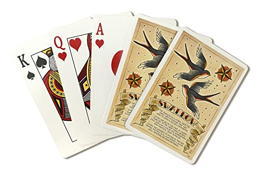 Swallow - tatuaje Flash Sheet (Juego de cartas cubierta - 52 ...