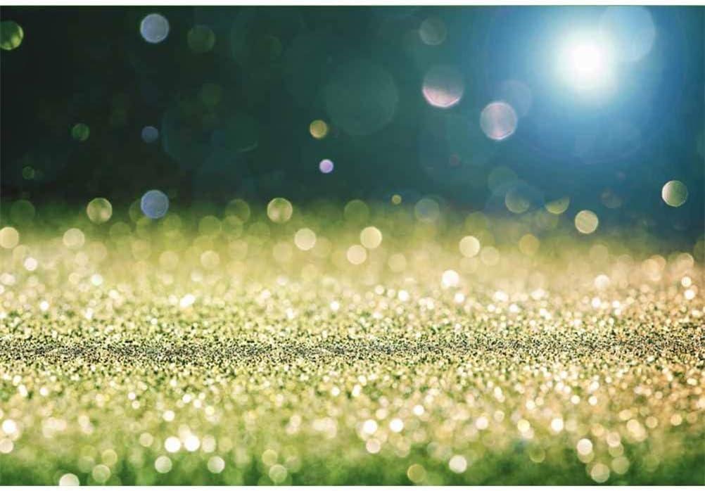 Vinyl 10x7ft Golden Glitter Bokeh Haloes Bright Light Background St.Patricks Day Photography Backdrops Child Adults Artistic Portraits Shoot Irish Festival Event Photo Greeting Card