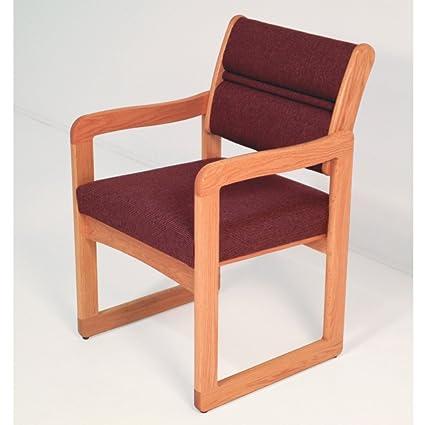 Wooden Mallet Sled Base Valley Guest Chair, Medium Oak, Powder Blue