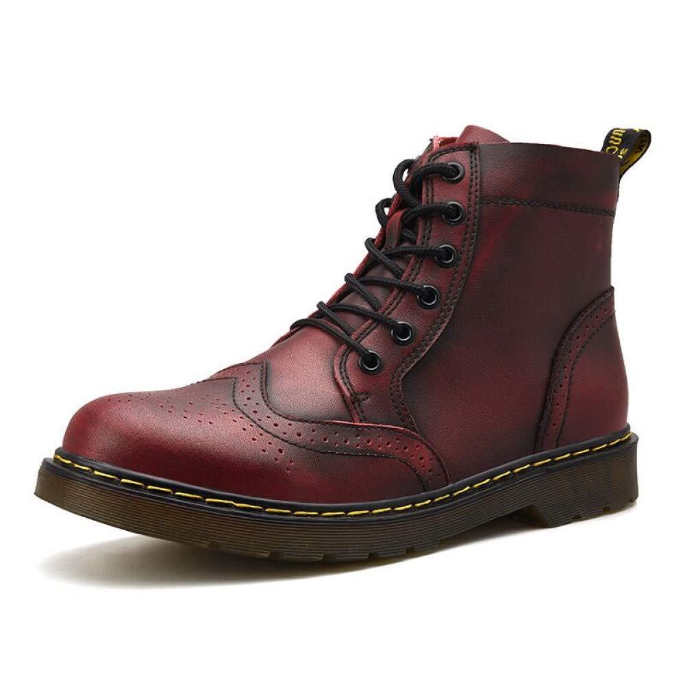 FHCGMX Hohe Qualität Echtes Leder Männer Stiefel Winter Wasserdichte Stiefeletten Martin Stiefel Outdoor Arbeits Schnee Stiefel Männer Schuhe